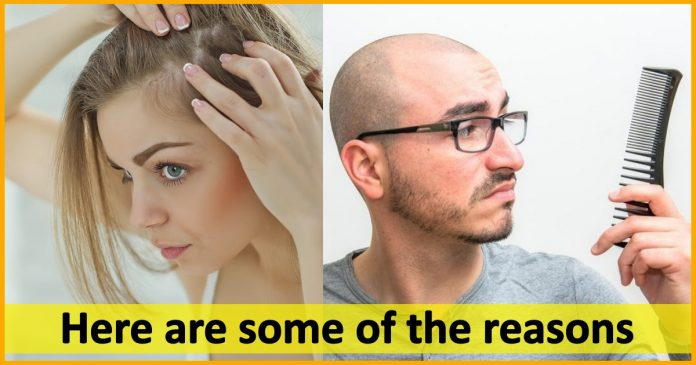 Hair Loss, reaons, age, stress, depression,