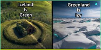 Greenland ,Iceland , green, icy,