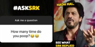 SRK, Poop, reply, Questation , answer
