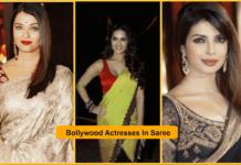 Bollywood, Actresses, Saree, figure,