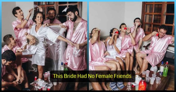 Bride , Girlfriends , Guy , Friends , Stepped , Unconventional , Photoshoot, theemergingindia, Emerging, India