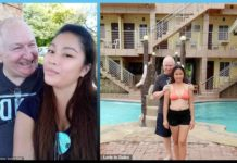 Love story, Filipino Woman , British Man, flaunting , majority , age gap, 48-year-old age gap