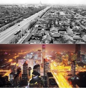 City, differences, Before And After , development, years,