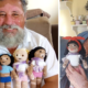 Grandfather, Crochets Dolls , Vitiligo , Children , sharp margins, pigment,
