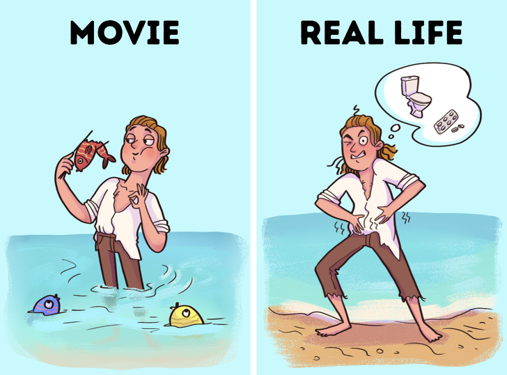 Movie, Myths, Book, famous, famous characters, Robinson Crusoe and Rambo