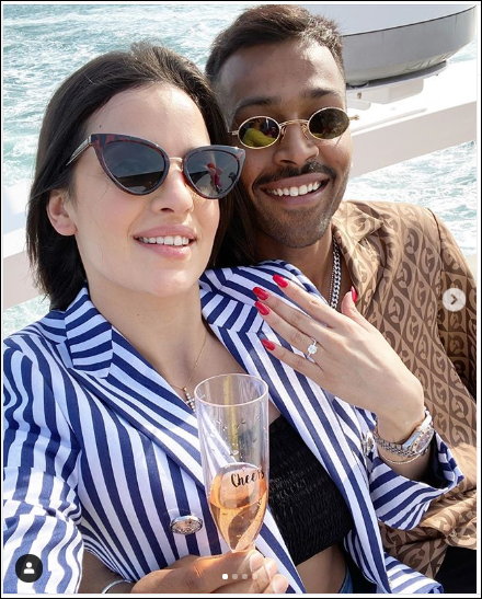 Hot Pics, Hardik Pandya, fiancee, Natasa Stankovic, Indian cricketer, New Year's eve, girlfriend,