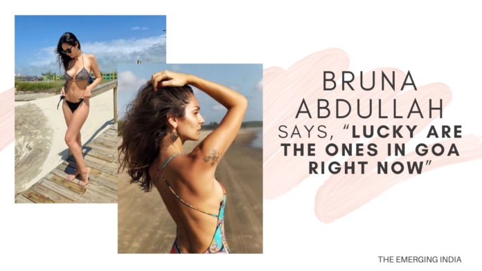 """Bruna Abdullah shares smoking hot picture from the beach; says, """"Lucky are the ones in Goa right now"""""""