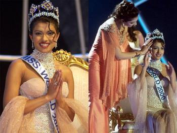 Priyanka Chopra Miss Worlds pageant 2000